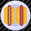 wiener, hot dog, frankfurter, sausages, bratwurst icon