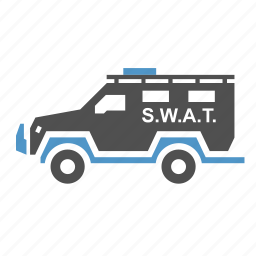 car, military, police, swat, transport, truck icon