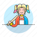 tribes, girl, riot, quinn, suicide, halloween, bat, harley, urban, harlequin, squad, wristband icon