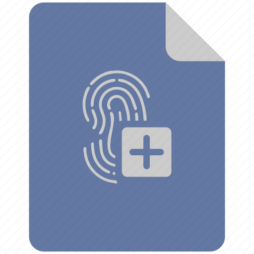 access, add, biometry, data, database, finger icon
