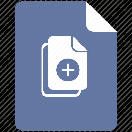 add, document, edit, file, new icon