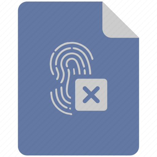 access, biometry, cancel, dactyl, finger, stop icon