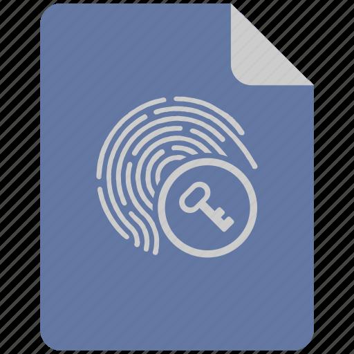 access, biometry, enter, finger, key icon