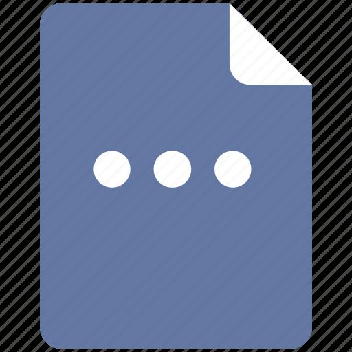 additional, dots, horizontal, menu icon