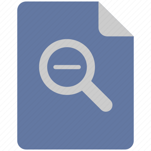 loop, magnifier, minus, scale icon