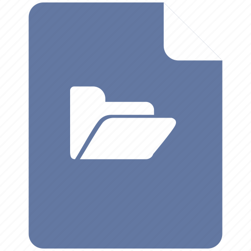 document, file, folder, open, text icon