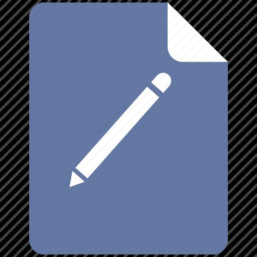 edit, pencil, text, write icon