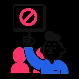 demonstration, sign