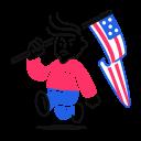 supporter, political icon
