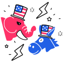 democrat, battle, republican