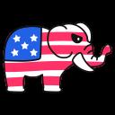 republican, elephant icon