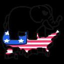republican, elephant, usa icon