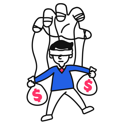 Corruption, corrupt, money illustration - Free download