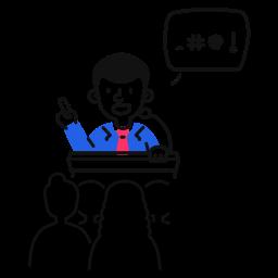political, meeting