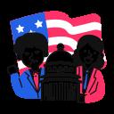 election, usa, congress icon
