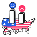 election, polls, usa icon