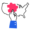 election, usa, strategy, state icon