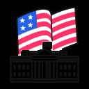 election, white, house, usa icon