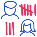 candidates, counting, vote icon