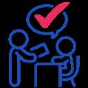 id, voter, validation icon