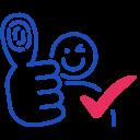 id, voter, validated icon