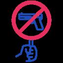 ban, gun icon