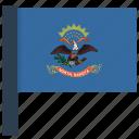 flag, north dakota, state icon