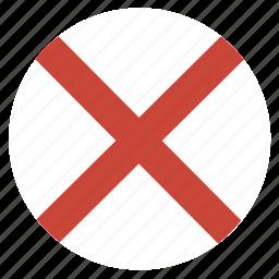 alabama, american, circle, circular, flag, state icon