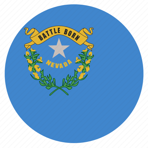 american, circle, circular, flag, nevada, state icon