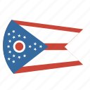 american, circle, circular, flag, ohio, state icon