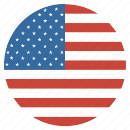 america, american, circular, flag, united, us, usa icon