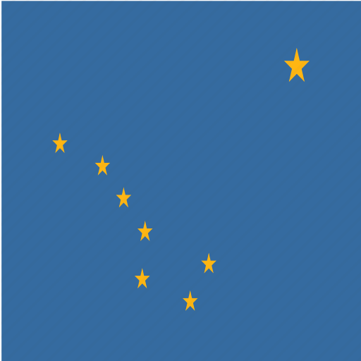 alaska, american, flag, square, state icon