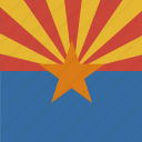 american, arizona, flag, square, state icon