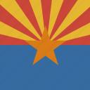 american, arizona, flag, square, state icon