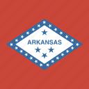american, arkansas, flag, square, state icon