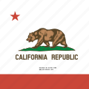 american, california, flag, square, state icon