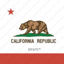american, california, flag, state icon