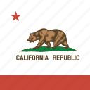 america, california, flag, state icon