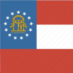 american, flag, georgia, square, state icon