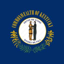 american, flag, kentucky, square, state icon