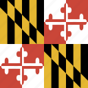 american, flag, maryland, state icon