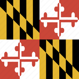 american, flag, maryland, square, state icon