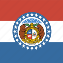 american, flag, missouri, square, state icon
