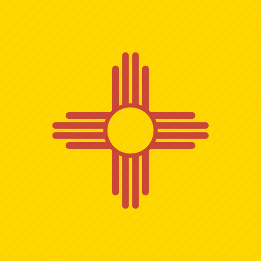american, flag, mexico, new, new mexico, square, state icon