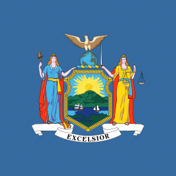 american, flag, new, square, state, york icon