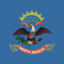 american, dakota, flag, north, square, state icon