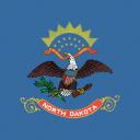 american, flag, north dakota, state icon