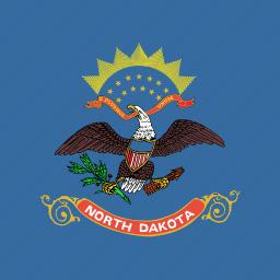 american, dakota, flag, north, square, state icon