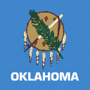american, flag, oklahoma, square, state icon