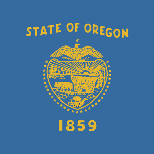 american, flag, oregon, square, state icon